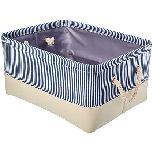 Amazon Basics Fabric Storage Basket Container with Rope Handles Medium