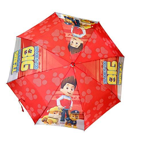 Kids Licensing - Paraguas Plegable automático Rojo de La Patrulla Canina