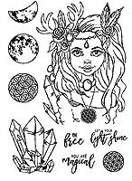 女の子透明クリアシリコンスタンプ/DIYスクラップブッキング/フォトアルバム用シール装飾クリアスタンプシートA1769