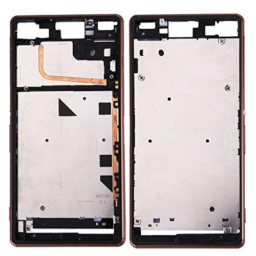kangruwl Reemplazar revisión por Partes telefónicas IPartsBuy for Sony Xperia Z3 (Solo SIM) LCD Marco del Bisel Frontal de la Carcasa de Accesorios (Color : Brown)
