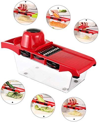 ZXL 10 set/handmatige snijset voor aardappelen en fruit, uienmachine van roestvrij staal voor het schillen van wortels, voor het snijden van dobbelstenen, gereedschap van Cuc