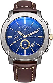 Ochstin Watch for Men, Chronograph, Leather, GQ039-SBC