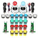 EG STARTS 2 Spieler klassische Arcade DIY Kit USB-Encoder zu PC Joystick Spiele + 2x 5Pin Rocker +...