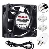 dc axial fan - Wathai EC Brushless Cooling Fan AC 110V 115V 120V 220V 240V Axial Fan Ball Bearing 60mm x 25mm