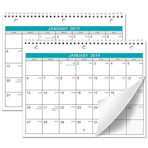 "2021 Calendar - 3 Month Wall Calendar Display (Folded in a Month), 12"" x 17"", Vertical Calendar with Thick Paper, January 2021 - January 2022, Perfect for Organizing & Planning"