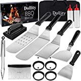 Griddle Accessories Kits, 17PCS Flat Top Grill Accessories Set, Professional Grilling Accessories BBQ Grill Tools Set, Barbecue Utensil Gifts for Blackstone and Camp Chef Griddle