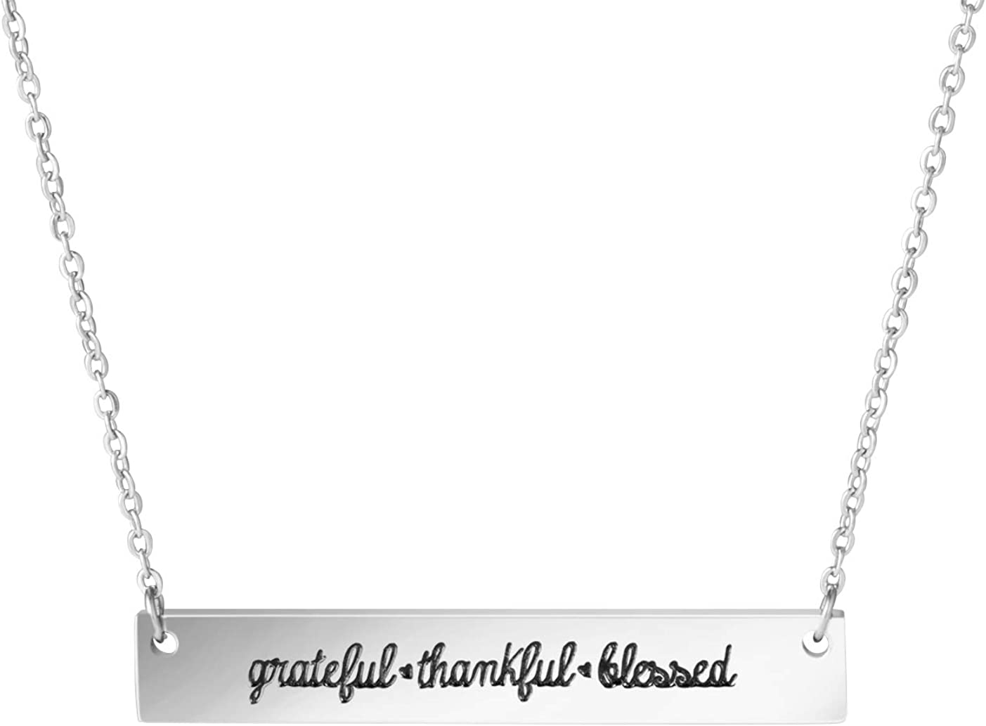Awegift shipfree Family Necklace Gifts for Stainless Bar Steel Seattle Mall Women Neck