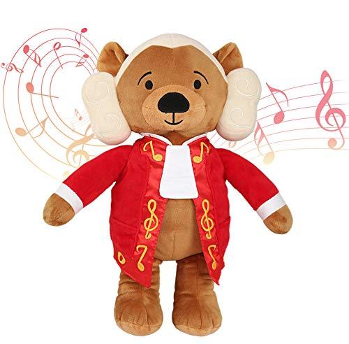 Virtuoso Bears Wolfgang Amadeus Mozart Baby Musik Teddybär | 40 Min. klassische Musik für Babys | 38 cm großes Baby Kuscheltier mit beruhigender Entspannungsmusik | Baby Geschenk Spielzeug Stofftier