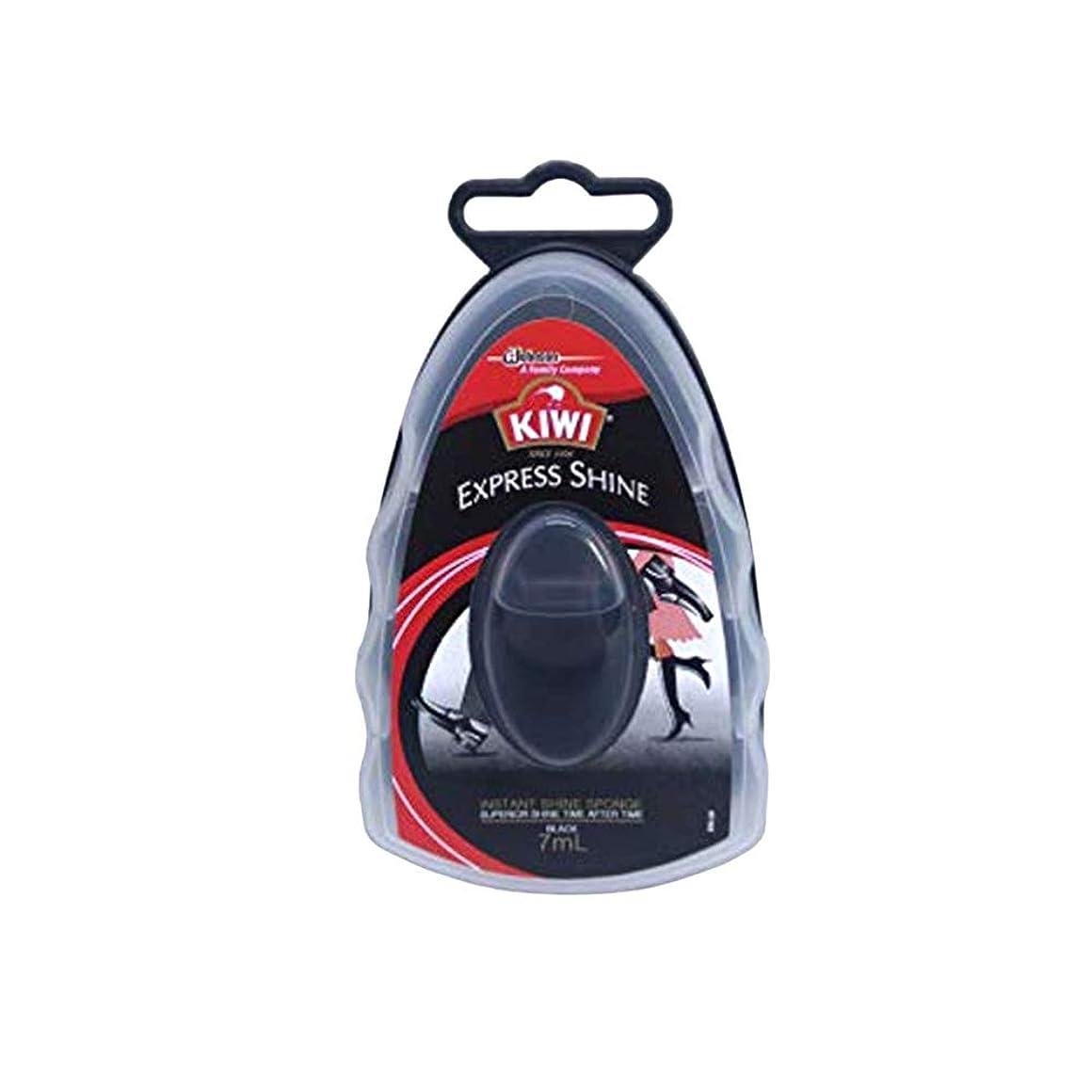 ハウジング分散バーゲン[KIWI] キィウイ エクスプレス シャイン 革靴用つや出しワックス スポンジタイプ 黒用 7ml オリジナルポーチ付き