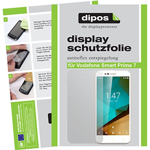 dipos I 2X Schutzfolie matt kompatibel mit Vodafone Smart Prime 7 Folie Bildschirmschutzfolie