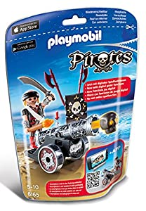 PLAYMOBIL- Pirates Cañón Interactivo con Corsario Muñecos y Figuras, Multicolor (6165)