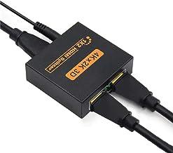 2Pack Multiplexeur de signal vidéo BNC à 2 canaux plaqué or pour câble
