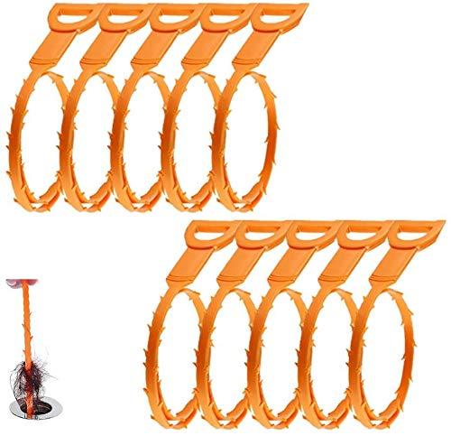 Abflussschlange, 10 Stück, Haarablauf, Verstopfungsentferner, Reinigungswerkzeug, 50,8 cm, für Spülbecken, Rohrabflussreinigung