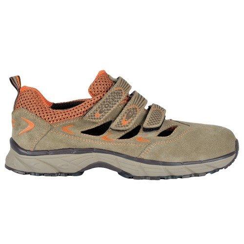 Cofra JV014-000 - Zapatos de seguridad S1P Nueva Gran Airworkflying, abierta tamaño sandalias de seguridad 42, negro