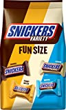 SNICKERS Variety Mix Fun Size Chocolate Bars Christmas Candy, 35.09-Ounce Bag
