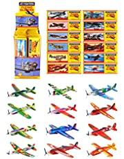 HENBRANDT Pack Of 12 Classic World War II Flying Plane Gliders- Polystyrene Pinata Toy Loot/Party Bag Fillers Wedding