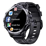 XYZK Z32 Smart Watch Men's 1.6 Pulgadas 3G + 32G ANDRIOD9.0 4G SIM Wireless 1500Mah Power Bank Dual Cámara Cara ID De Cara Impermeable,B