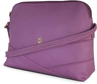 Baggit Autumn-Winter 2020 Faux Leather Women's Bowling Handbag (Purple) (Dancy)