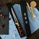 Maneja el cuchillo de huesos pequeños cuchillo 5Cr15 molibdeno vanadio Caoba curvo 5,5 pulgadas cuchillo de cocina del Chef caja de regalo (Color : One)