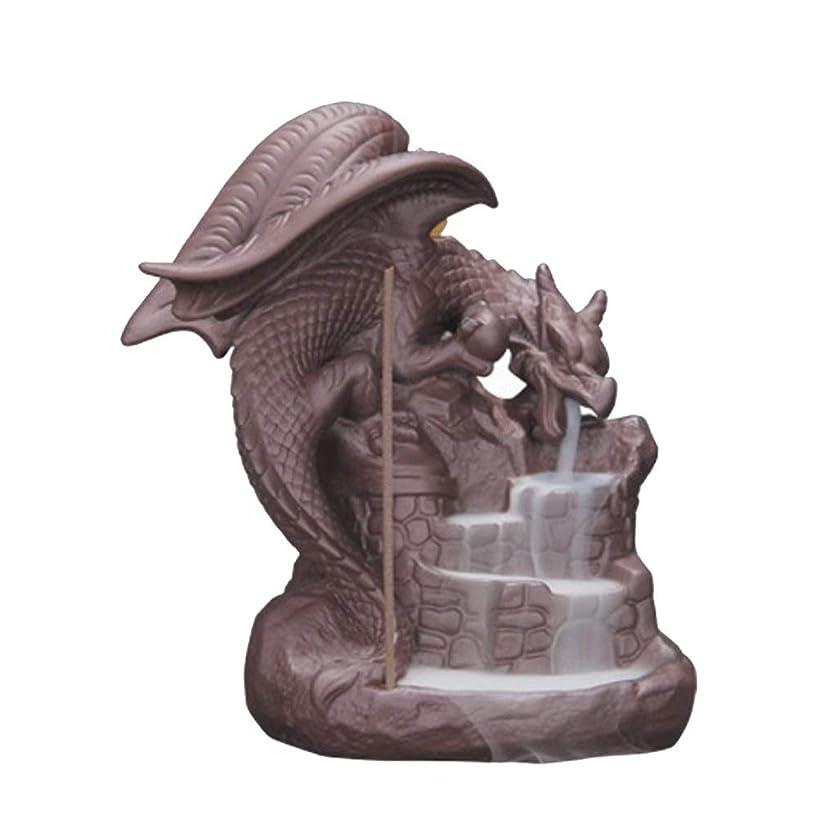 ホームアロマバーナー セラミック逆流香バーナー香炉の家の装飾ドラゴン香ホルダーバーナー使用ホームオフィスの装飾ギフト 芳香器アロマバーナー (Color : B)