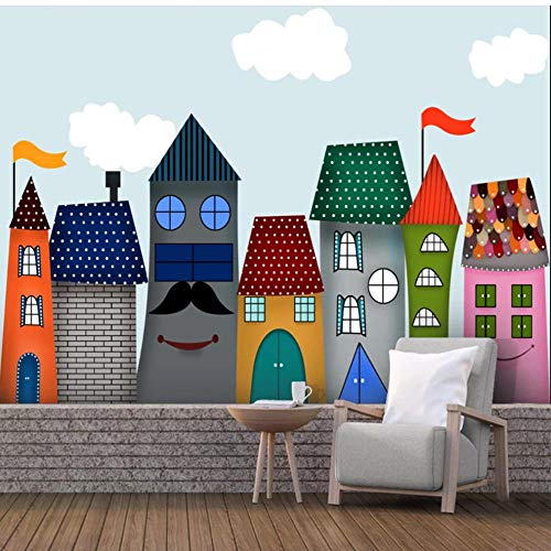 Guokaixyz fotobehang cartoon Castle 3D foto wallpaper voor kinderkamer kleuterschool babykamer slaapkamer muur huis decoratie papier wandafbeelding vlies 300x210cm