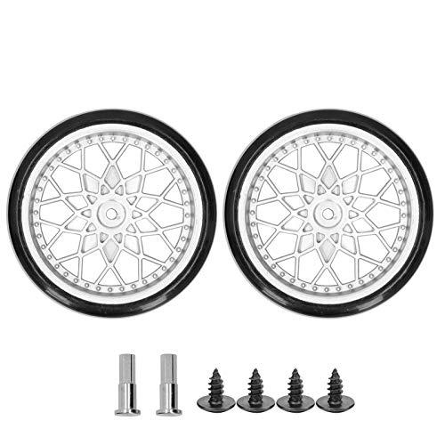 WYDM Neumáticos de vehículos RC, Rueda de camión RC y Accesorio de Repuesto de actualización del Eje s Compatible con el Coche RC D12