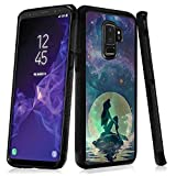 Phone Case for Samsung Galaxy S9 Plus Moonlight Mermaid,ChyFS Phone Case ,PC and TPU Black Protective Case for Samsung Galaxy S9 Plus