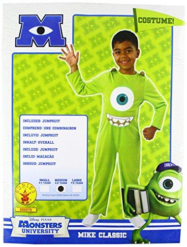 Monstruos University - Disfraz infantil de Mike para nio, Talla 5-7 aos (880076-M)