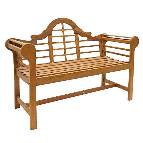 achla outdoor benches Achla Designs OFB-01 Lutyens Indoor/Outdoor Garden Bench, Natural, 4 ft