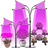 High Brightness 96W,Desktop and Floor Grow Light,Telescopic 30in-86in Height Adjustment,4/8/12H Cycle Timing,8 Dimmable Levels,Indoor Greenhouse Plant Growing Lamps(Meet Multiple Fast Plant Growth)