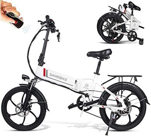 E-Bike Elektrofahrrad 20 Zoll Fettreifen MTB Elektrisch Fahrrad Klapprad 350 W Motor 25 km/h mit Lithium-Akku 48V 10,4Ah Shimano 7-Gang-Schalthebel Mountainbike für Outdoor Herren Damen