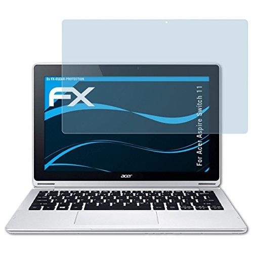 atFolix Schutzfolie kompatibel mit Acer Aspire Switch 11 Folie, ultraklare FX Bildschirmschutzfolie (2X)