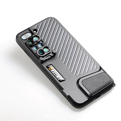 Ztylus Switch 6 Kit 6-in-1 Dual Optics Lens System for iPhone 8 Plus / 7 Plus: Fisheye, Telephoto, Wide-angle, Macro and Super Macro (Black)