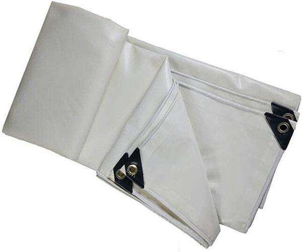Bache de tente durable extérieurTarpaulins rembourrés (Couleur   Blanc, Taille   4x4M)