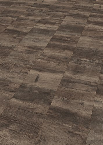 EGGER Home Laminat dunkel braun Holzoptik - Konstanz Eiche grau  EHL095 (8mm, 2,533 m²) Klick Laminatboden | Bodenbelag