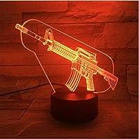 カラフルな漫画DIYランプ3DナイトライトキッズおもちゃLEDタッチテーブルランプ7色点滅LEDライト室内装飾3D