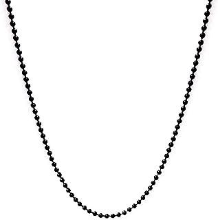 سلسلة على شكل كرات سوداء صغيرة مقاومة للصدا والخدوش والماء للرجال من تنجستن- اسود