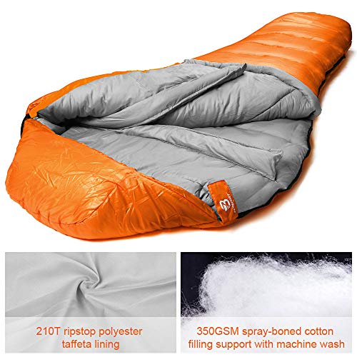 Bessport Mummy Sleeping Bag | 15-32 ℉ Extreme 3-4 Season Sleeping Bag for Adults Cold Weather– Warm and Washable, for Hiking Traveling & Outdoor Activities