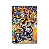 XREE Medias atractivas para motocicleta o carreras (2) Art Tin Sign vintage accesorios para el hogar displate Tin signos retro placas de metal pintura de hierro Rusty Poster 30 x 40 cm