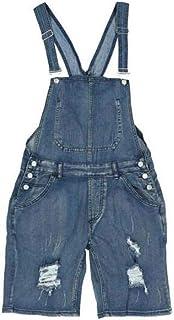 Babao Men's Denim Bib Short Overalls Dungarees Jeans Jumpsuits Workwear