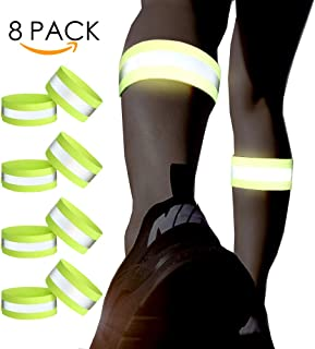 ryandrew Reflective Bands - for Wrist, Arm, Ankle, Leg, Thigh. High Visibility Reflective Running Gear for Men and Women for Night Running Cycling Walking Bicycle. Safety Reflector Tape Straps