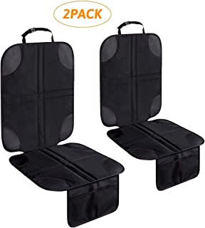 Child Infant Car Seat Protector 2 Pack,Waterproof Durable Auto Seat Cover Mat, Car Seat Cushion for Leather Seats(300D Oxford Canvas)