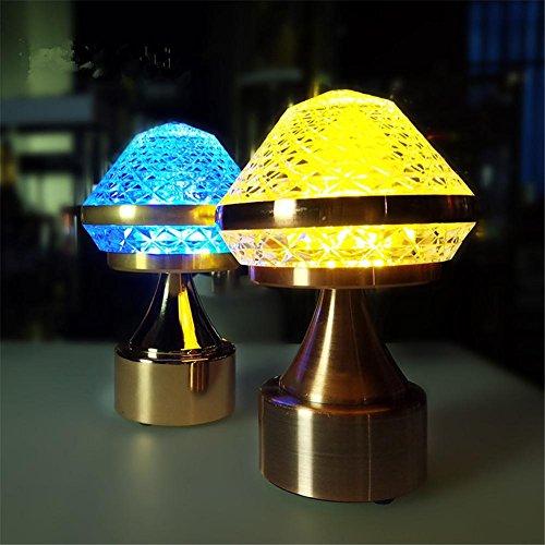 Lampe de table à LED en cristal Lampe de chevet Simplicité contemporaine 7 Changement de couleur Lampe de table gradable pour chambre Salon Bar Restaurant Eclairage (paquet de 1)