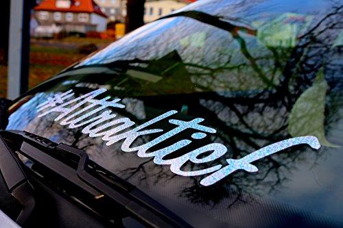 Frontscheibenaufkleber # Attraktief HOLOGRAMM GLITZER Holographic Tuningaufkleber NEU WOW - EFFEKT