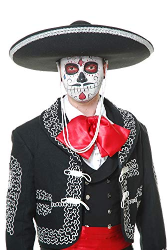 Charades Unisex-Adult's Mariachi Sombrero, Black/Silver, One Size