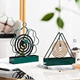 2 Piezas Mosquito Coil Holder, Espiral Antimosquitos Burners Incensario, Ash Catcher Metal...