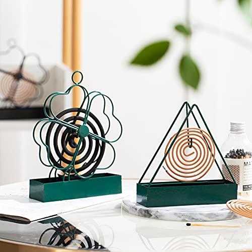 Supporto Per Spirali Antizanzare In Ferro Stile Retrò, 2 Pezzi Supporto A Spirale Per Zanzare Supporto Per Zanzare Per Esterni Spirali, Repellente per zanzare creativo per la decorazione della casa