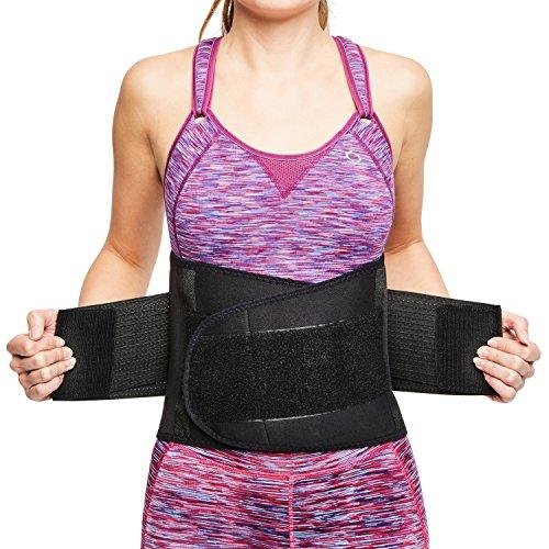 sit right Rückenbandage - Stabilisierungsgurt aus Thermomaterial mit zweifach verstellbaren Bändern für den perfekten Sitz - Rückenstütze für Männer & Frauen – schwarz – Vers. Größen (L-XL)