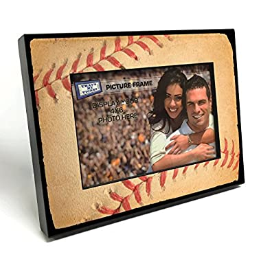 That's My Ticket Baseball Stitches Wooden 4x6 inch Picture Frame