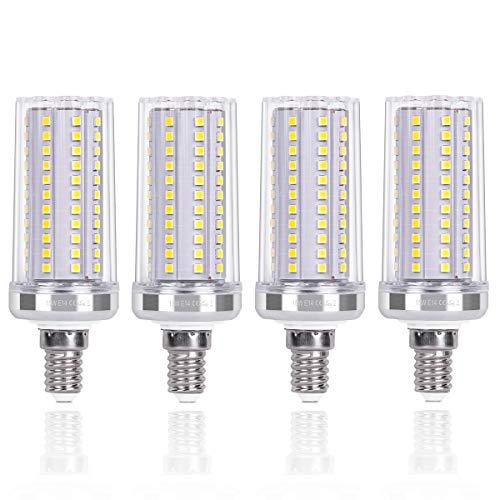 SanGlory E14 LED Lampe Kaltweiß 6000K, 15W LED E14 Maiskolben statt 120W Glühlampe, 1720LM Energiesparlampe E14 LED Birnen, 108 X 2835 SMD LED E14 Leuchtmittel Nicht Dimmbar AC220-240V, 4er Pack